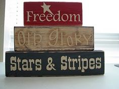 Old Glory Blocks..love these.Going to make them