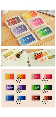 1pc Craft Colorful Ink Pad Set  Rubber Stamp Ink by LittleJenStore