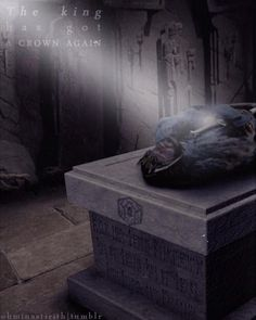Thorin on his tomb <-- NOOOOOO!!!!!!!!!!!!
