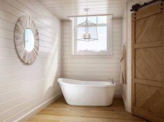 Our Arietta™ freestanding bathtub packs a big punch in a small bath space.