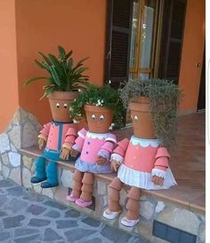 Will Pinterest be around when I retire so I can remember to make these cute flower pot dolls.