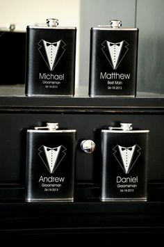 Groomsmen Gift Personalized Flask Custom by UrbanFarmhouseTampa
