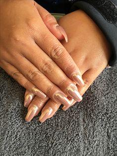 Full chrome nails #nailsbysteph