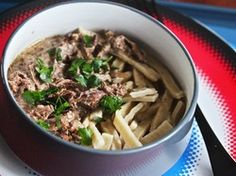Slow Cooker Beef Stroganoff | Serious Eats : Recipes This one vetted by Dietsch & Jen