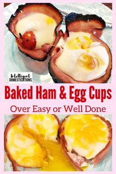A low carb recipe for Baked Ham and Egg cups good for breakfast or brunch. Grab and go breakfast or fancy dish for a brunch occasion. Cube Steak Recipes, Oven Recipes, Pork Recipes, Cooker Recipes, Low Carb Recipes, Shrimp Recipes, Turkey Recipes, Potato Recipes, Easy Recipes
