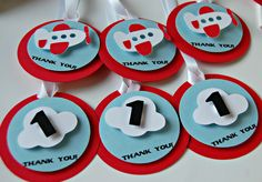 Airplane Theme Birthday Party Favor Tags - We Bring the Party - 3 1 Year Birthday Party Ideas, First Birthday Party Decorations, 1st Boy Birthday, Boy Birthday Parties, Birthday Party Favors, Airplane Birthday Cakes, Airplane Party, Astronaut Party, Planes Party