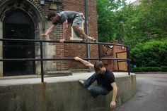 Parkour Moves | Charlie and Cole demonstrate a variety of Parkour moves in what ...