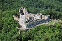 Slovakia, hrad-castle ruins Jasenov