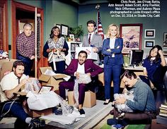 """"""" The Parks and Recreation cast for Entertainment Weekly """""""