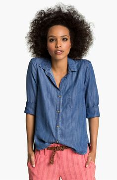 cloth and stone slouchy chambray shirt