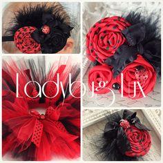 Ladybug Tutu-Red and black tutus-Ladybug birthday-Lady bug birthday party-Ladybug Costume. $25.49, via Etsy.
