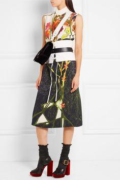 Prada | Printed crepe midi dress | NET-A-PORTER.COM