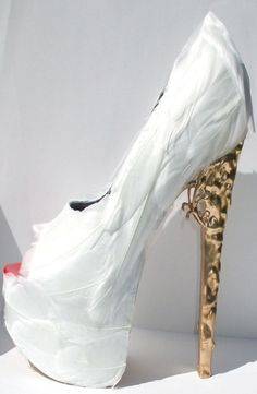 Sky High Heels - White Feathers & Loveliness
