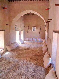 How To Live Like an Omani Princess: Traditional Omani/GCC furniture Home Interior Design, Interior Styling, Interior And Exterior, Moroccan Interiors, Moroccan Decor, Islamic Architecture, Interior Architecture, Arabic Decor, Mud House