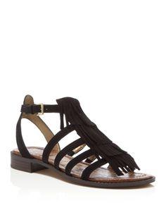 Sam Edelman Estelle Fringed Flat Sandals