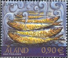 Stamp: Europa (Åland Islands) (Europa) Mi:AX 251,Yt:AX 251,AFA:AX 251 Lappland, Fish Tales, Fjord, Christmas Images, Stamp Collecting, Postage Stamps, Food Stamps, Marine Life, Drink