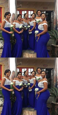 Trending and unique Ankara print asobi gown styles Cobalt Blue Dress Bridesmaid, Royal Blue Bridesmaid Dresses, Mermaid Bridesmaid Dresses, Wedding Bridesmaids, Blue Wedding Gowns, Wedding Attire, Wedding Colors, Wedding Dresses, Wedding Ideas