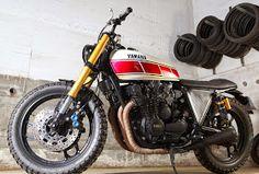 XJ 900 by Tarmac Custom Motorcycles - RocketGarage - Cafe Racer Magazine Xj Yamaha, Yamaha Cafe Racer, Cafe Racer Magazine, Custom Motorcycles, Scrambler, Bobber, Racing, Bike, Ideas