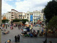 Plaça Major en Alcira, Valencia