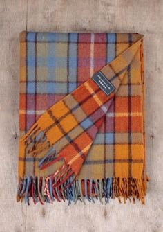 The Tartan Blanket Co. Recycled Wool Blanket Buchanan Antique Tartan x Sunset Color Palette, Sunset Colors, Wool Scarf, Wool Blanket, Mixed Fiber, My Design, Recycling, Weaving, Plaid