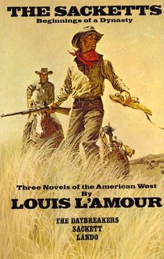 Anything by Louis L'Amour..but especially any of his work about The Sacketts!