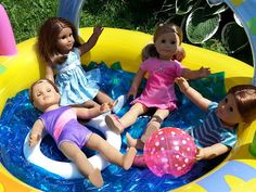 American Girl Doll Crafts and Fun!: Pool Party Ruckus