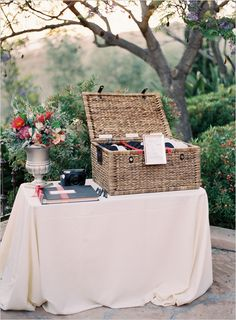 guest book table by http://www.donnaromanievents.com/ and photo by  http://www.patmoyerweddings.com
