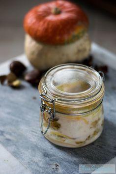 Lasagne di zucca in vasocottura con porcini, stracciata e besciamella di castagne