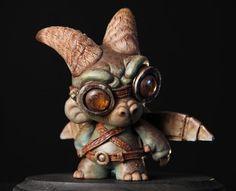 Cassia Harries: Steampunk Gargoyle for Gallery Nucleus