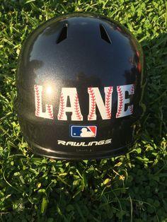 Baseball Helmet Decal Personalized Baseball by BriarPatchDesignsLA