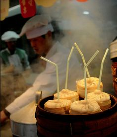 ✈ Asian Travel Chinese street food Soup dumplings.