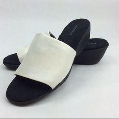 bf57adbb8c AEROSOLES Shoes | Aerosoles Women'S Badminton Sandal | Color: Black/White |  Size: