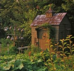 All The Garden Sheds Of Your Wildest, Quaintest Dreams - garden landscaping Garden Gates, Garden Sheds, Garden Tools, Potager Garden, Backyard Sheds, Garden Buildings, Garden Structures, Cabana, Little Gardens