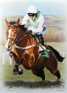 FAUGHEEN Limited Edition Horse Racing Print by Equestrian Artist Joanna Stribbling