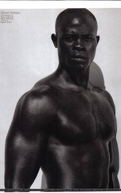 Djimon Hounsou, Beninese-American actor and model. He has starred in Amistad, Gladiator, In America, Biker Boyz, Constantine, Blood Diamond & Beauty Shop. He has been nominated of 2 Academy Awards. He also appeared in Janet Jackson's Love Will Never Do (Without You) & Paula Abdul's Straight Up music videos. In 2007, he became a Calvin Klein underwear model. He is separated from Kimora Lee Simmons, although they were never legally married.