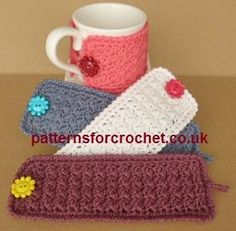 Looking for your next project? You're going to love pfc149-Simple Mug Cozy crochet pattern by designer justcrochet.