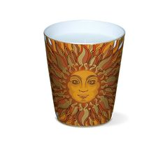 "Gloria Soli II    Hermes candle, unscented. Printed porcelain cup with ""Gloria Soli"" pattern, velvet goatskin base. 3.25"" x 4"" x 2.25""."