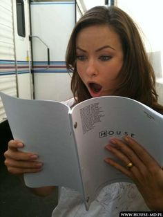 Olivia Wilde's reaction to a season 6 episode script - house-md Photo ohh olivia wilde. Gregory House, Rock Roll, House Season 6, Season 4, House Md Funny, Die Wilde 13, Doctor House, Dr H, Everybody Lies