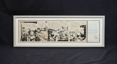 MILTON CANIFF - Steve Canyon Cartoon PRODUCTION ART - SIGNED + Letter ca.1957