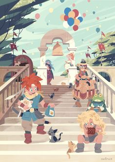 The millennial fair - chrono trigger  by @oxfruit