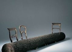 Treetrunk Bench This is awesome!