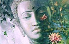 Painting by Laxman Kumar Artist Delhi (India) Lotus Painting, Buddha Painting, Watercolor Paintings, Original Paintings, Original Art, Buddha Kunst, Buddha Zen, Buddha Buddhism, Mudras