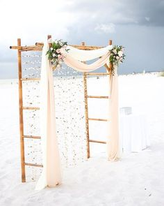 Find the perfect ceremony arch inspiration for your outdoor wedding. Find the perfect ceremony arch inspiration for your outdoor wedding. Bamboo Wedding Arch, Wedding Trellis, Wedding Arbors, Wedding Ceremony Arch, Beach Ceremony, Diy Wedding, Beach Wedding Arches, Wedding Hair, Wedding Photos