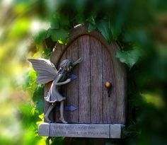 "For the garden. ""Garden faeries come at dawn, bless the flowers, then they're gone."""