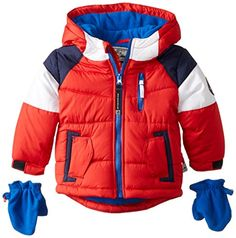 Rothschild Baby Boys Sleeve Strip Jacket Red 24 Months * See this great product. (This is an affiliate link) #BabyBoyJacketsCoats