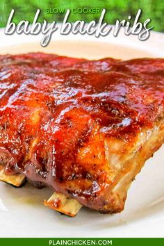 Slow Cooker Ribs Recipe, Slow Cooked Ribs, Slow Cooker Recipes, Crockpot Recipes, Cooking Recipes, Babyback Ribs Crockpot, Pork Rib Recipes, Venison Recipes, Meat Recipes