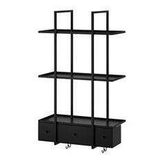 IKEA - FALSTERBO, Wall shelf, The shelves have a ledge to prevent whatever you place on them from sliding off.