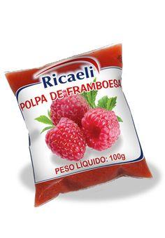 A Polpa de Fruta Riacaeli sabor Framboesa é um produto 100% Natural, é Distribuída de Fruit Mix nas embalagens de 100g e 1Kg (10 unidades de 100g)