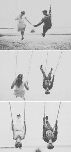 Engagement Pictures Reach for the sky. You're bound to make it with the right people by your side. - A beautiful, playful and intimate engagement shoot incorporating a day at the beach, a bicycle ride and swings. By The Red Balloon Photography Balloons Photography, Couple Photography, Engagement Photography, Photography Poses, Wedding Photography, Friend Photography, Maternity Photography, Engagement Pictures, Engagement Shoots