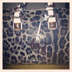 MK leopard bag